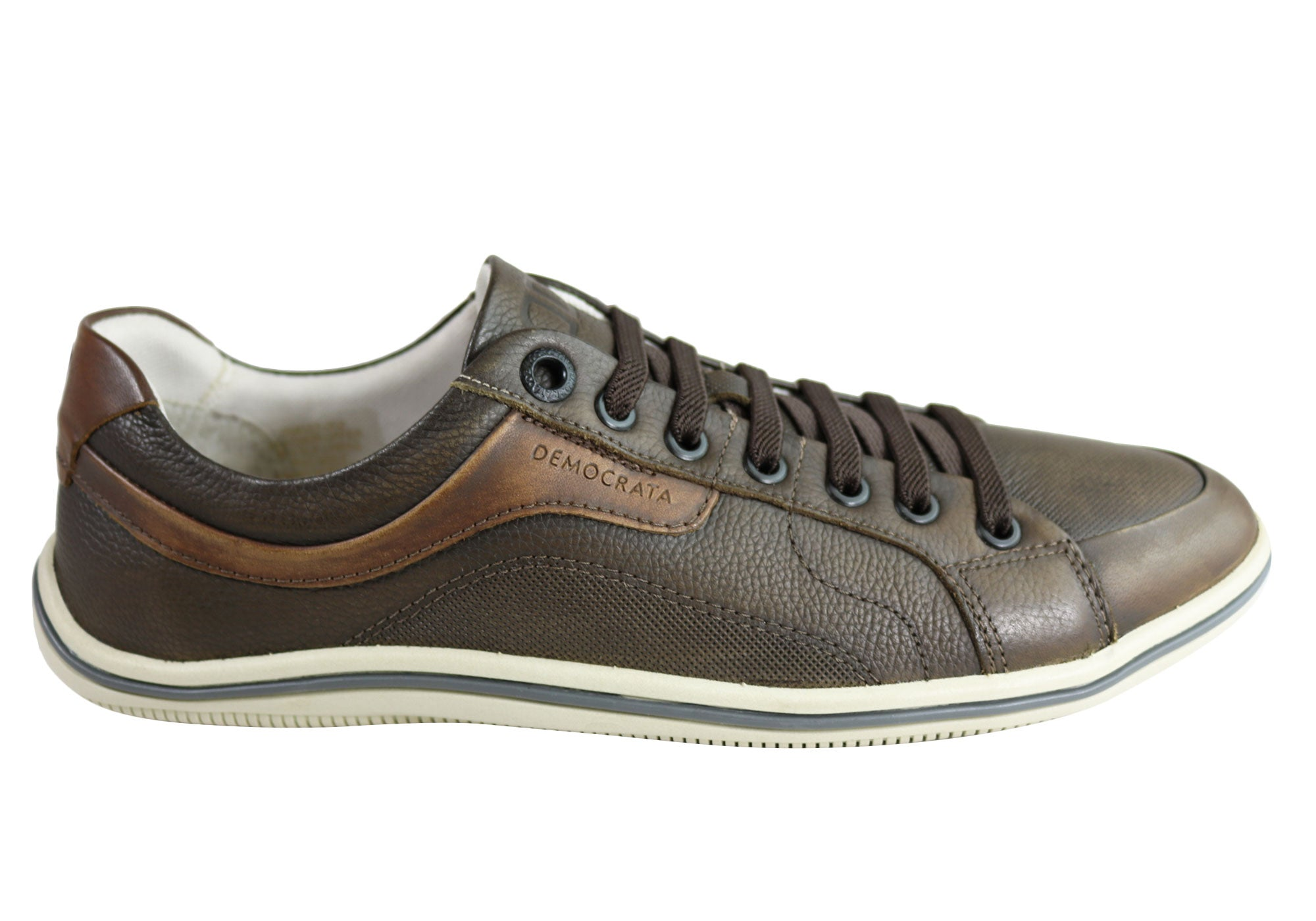 NEW-DEMOCRATA-MILES-MENS-LEATHER-SLIP-ON-CASUAL-SHOES-MADE-IN-BRAZIL thumbnail 2