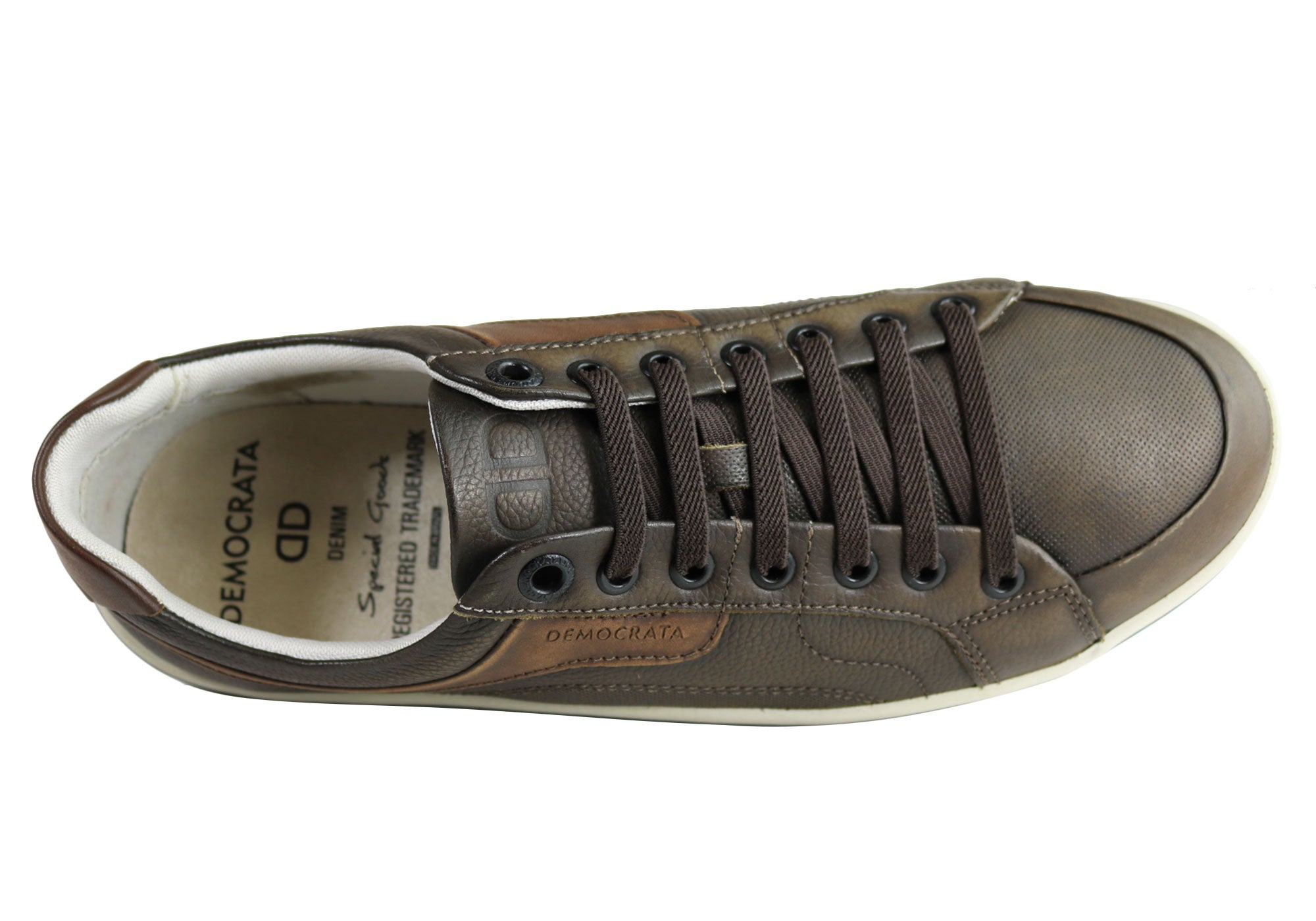 NEW-DEMOCRATA-MILES-MENS-LEATHER-SLIP-ON-CASUAL-SHOES-MADE-IN-BRAZIL thumbnail 3
