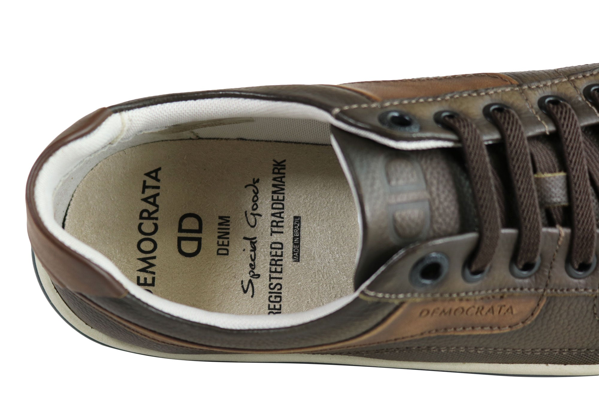 NEW-DEMOCRATA-MILES-MENS-LEATHER-SLIP-ON-CASUAL-SHOES-MADE-IN-BRAZIL thumbnail 4