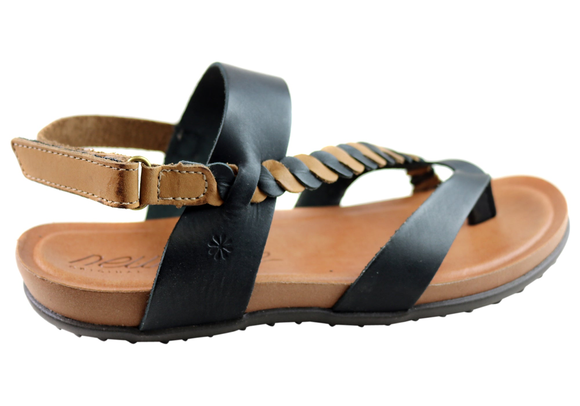 NEW ANDACCO YORY WOMENS COMFORT FLAT LEATHER SANDALS MADE IN BRAZIL