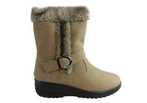 Bellissimo Courtney Womens Comfortable Fur Lined Boots