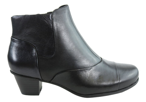 Rockport Amy Plain Bootie Womens Leather Wide Fit Ankle Boots