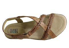 Planet Shoes Cherie Womens Comfortable Supportive Flat Sandals