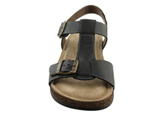 Florance Nero Womens Leather Sandals Made in Italy