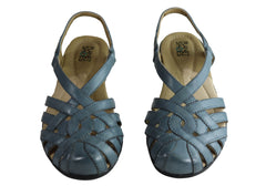 Planet Shoes Christine Womens Comfort Leather Closed Toe Flat Sandals