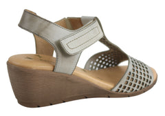 Ana Roman 16314 Womens Leather Wedges Made In Spain