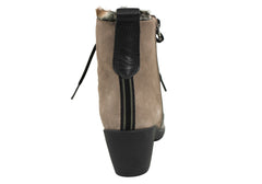 Hispanitas Womens Leather Ankle Boots Made In Spain