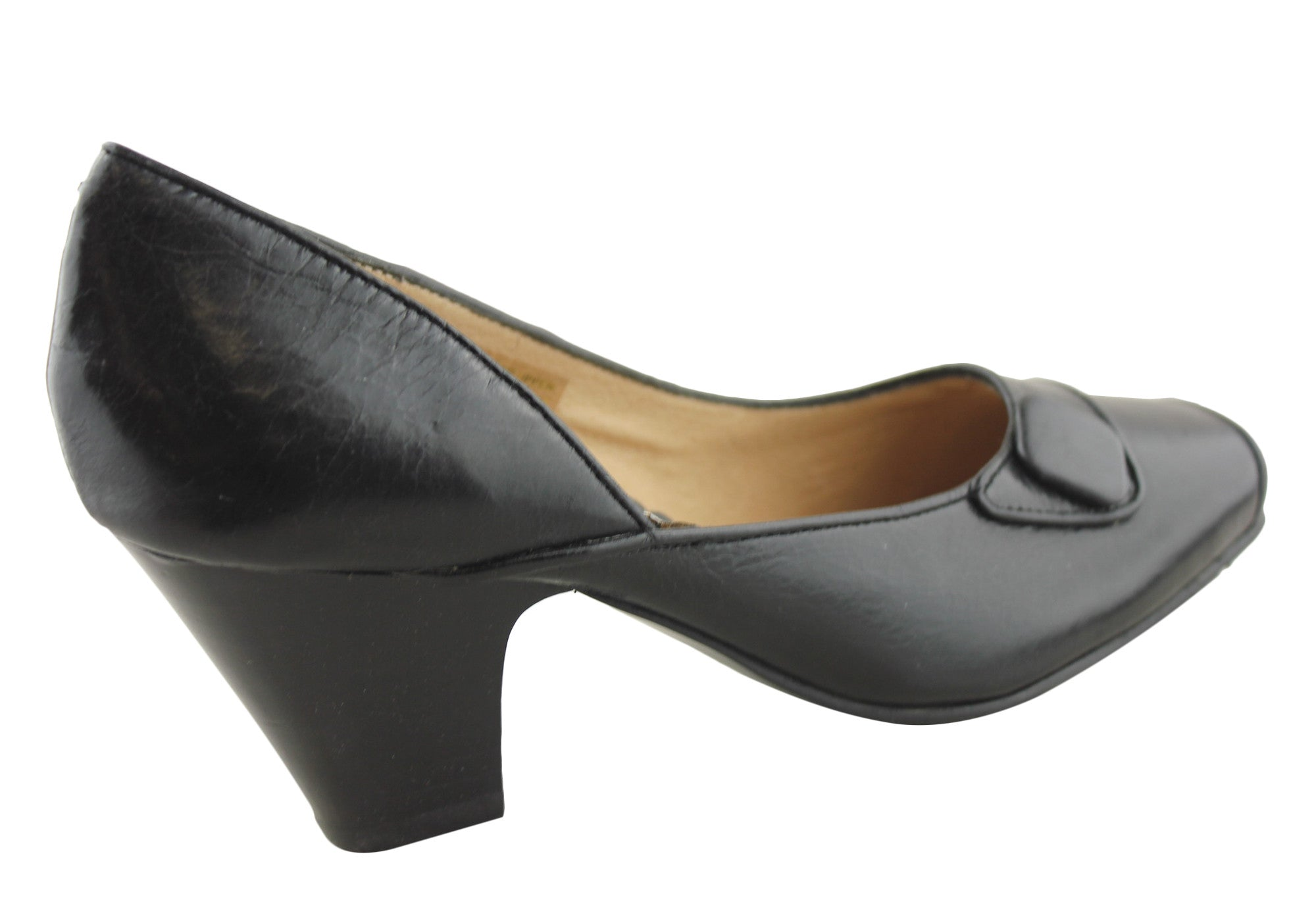Orizonte Misk Womens Leather Mid Heel Pumps