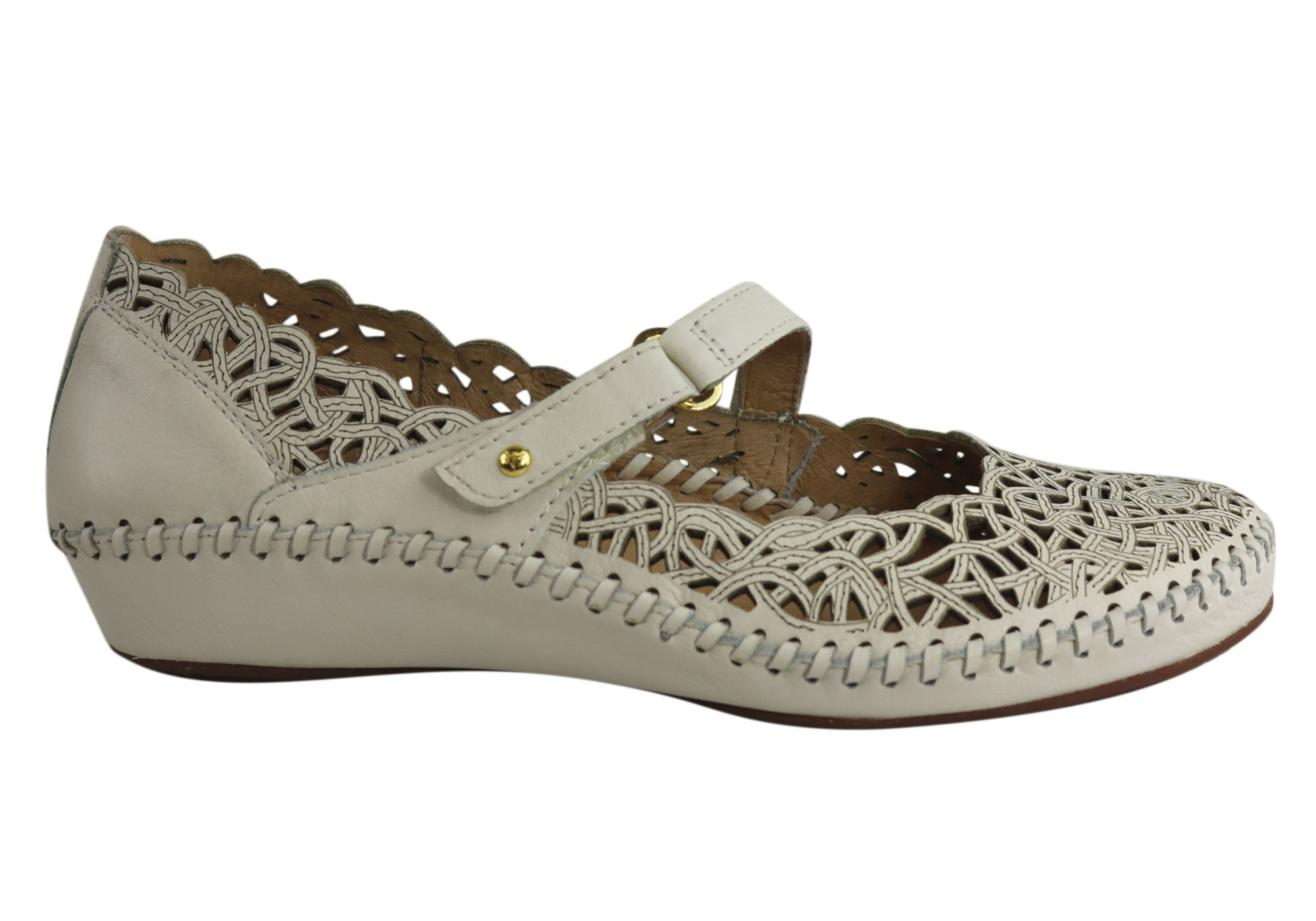 6375ba0437f8b Pikolinos 655-5588 Womens Comfortable Leather Mary Jane Shoes ...