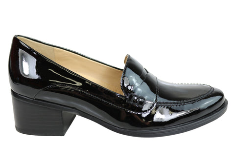 Naturalizer Dinah Womens Mid Heel Patent Leather Loafer Comfort Pumps