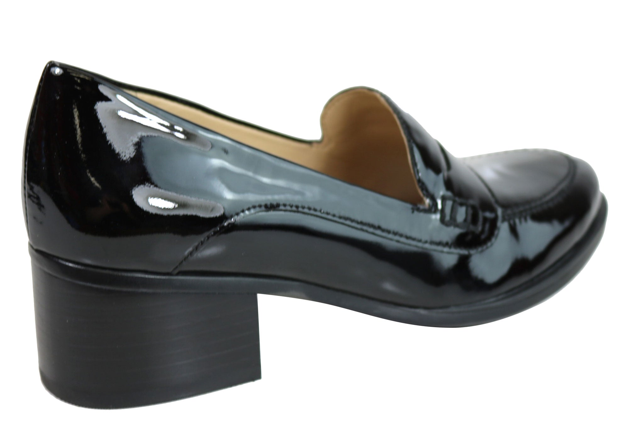 1416f66c1f9 Home Naturalizer Dinah Womens Mid Heel Patent Leather Loafer Comfort Pumps.  Black Patent  Black Patent  Black Patent  Black Patent ...