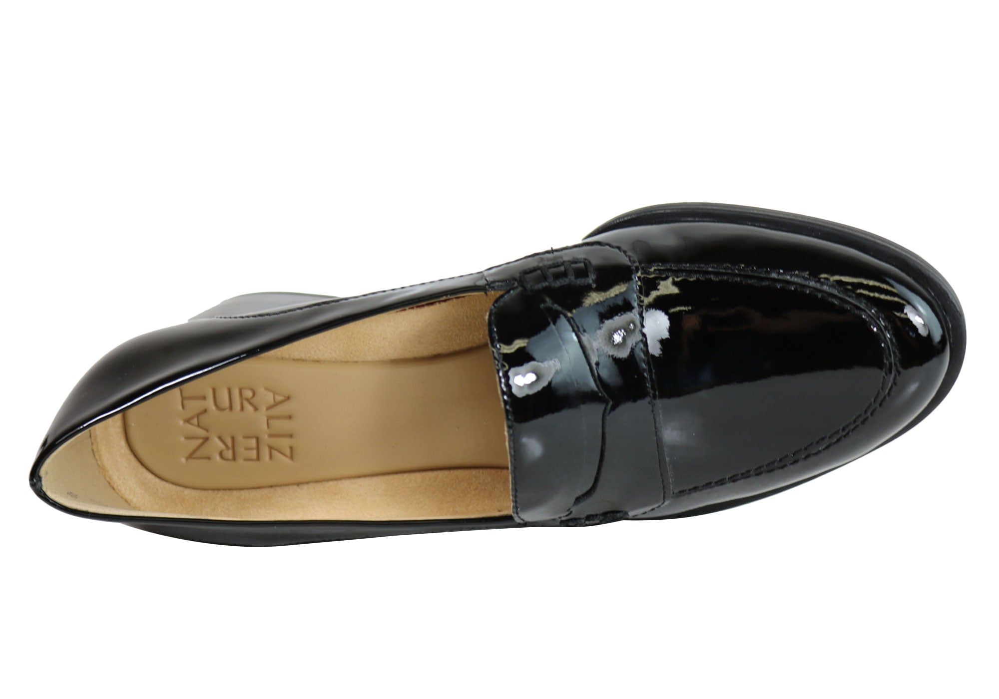 db5a46e18e9 Home Naturalizer Dinah Womens Mid Heel Patent Leather Loafer Comfort Pumps.  Black Patent  Black Patent  Black Patent  Black Patent  Black Patent ...