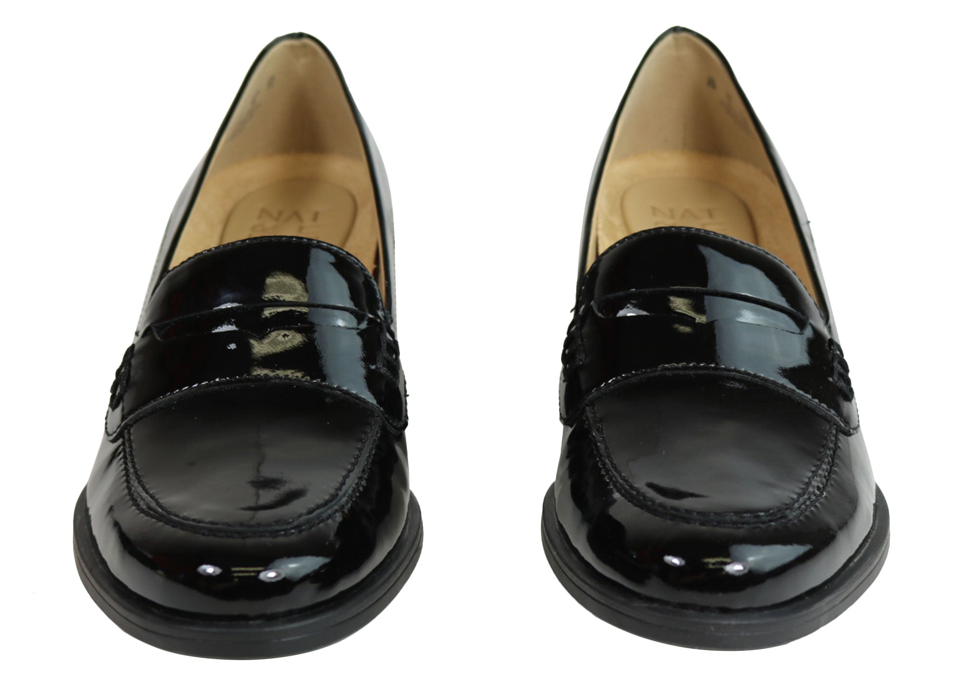 a8d8b1c5529 Naturalizer Dinah Womens Mid Heel Patent Leather Loafer Comfort Pumps