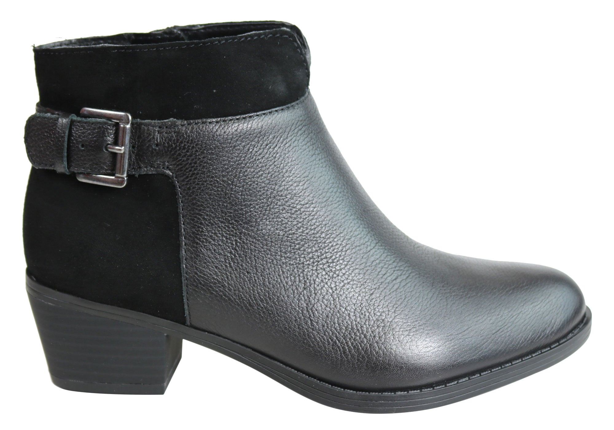 0280b6d0a91a7 Home Naturalizer Wanya Womens Comfortable Leather Low Heel Ankle Boots.  Saddle Tan; Black ...