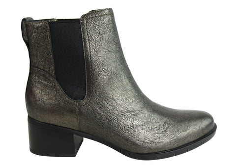 Naturalizer Dallas Womens Comfort Leather Chelsea Low Heel Ankle Boots