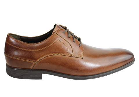 Rockport Style Connected Plain Toe Mens Leather Comfort Dress Shoes