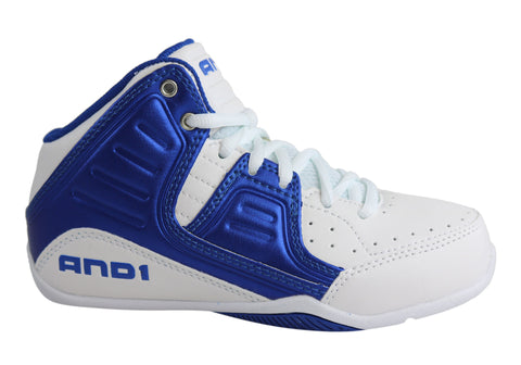AND1 Rocket 4 Mid Kids Basketball Boots Trainers