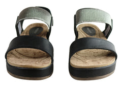 Pegada Rosie Womens Comfort Cushioned Leather Sandals Made In Brazil