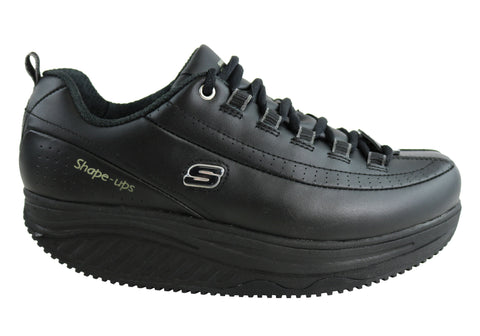 Skechers Shape Ups Elon Womens Leather Slip Resistant Shoes