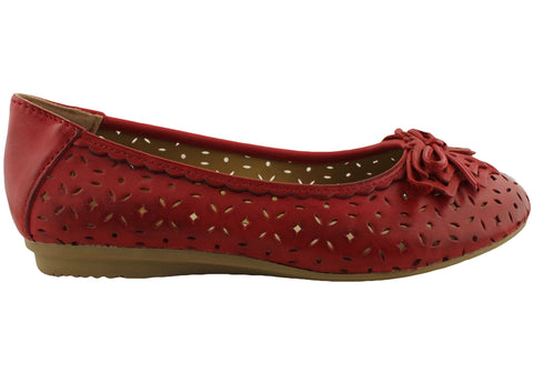 Planet Shoes Ebb Womens Comfort Leather Flats With Support