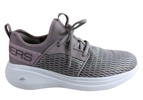 Skechers Womens Go Run Fast Glimmer Comfortable Athletic Shoes