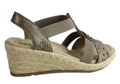Planet Shoes Jojo Womens Comfortable Wedge Sandals With Arch Support