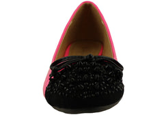 Isabella Brown Spike Womens Comfortable Flats