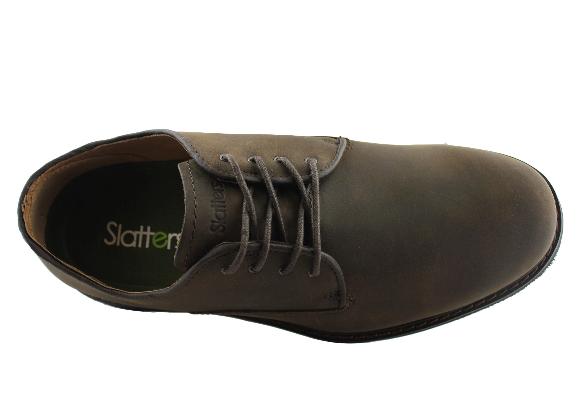 Slatters Telfast Mens Leather Lace Up Casual Shoes