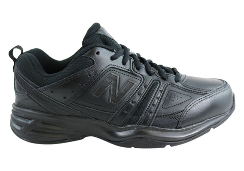 New Balance Mens MX409BK2 Leather Black Cross Training Shoes (D Width)