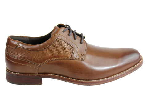 Rockport Style Purpose Plain Toe Mens Leather Comfort Lace Up Dress Shoes