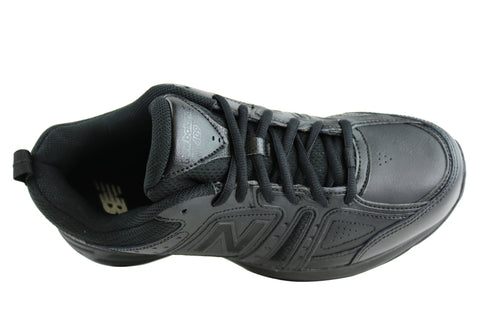 reputable site 22c97 1acb7 ... best price new balance mens mx409bk2 leather black cross training shoes  2e wide width f0438 70548