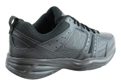 New Balance Mens MX409BK2 Leather Black Cross Training Shoes (2E Wide) Width