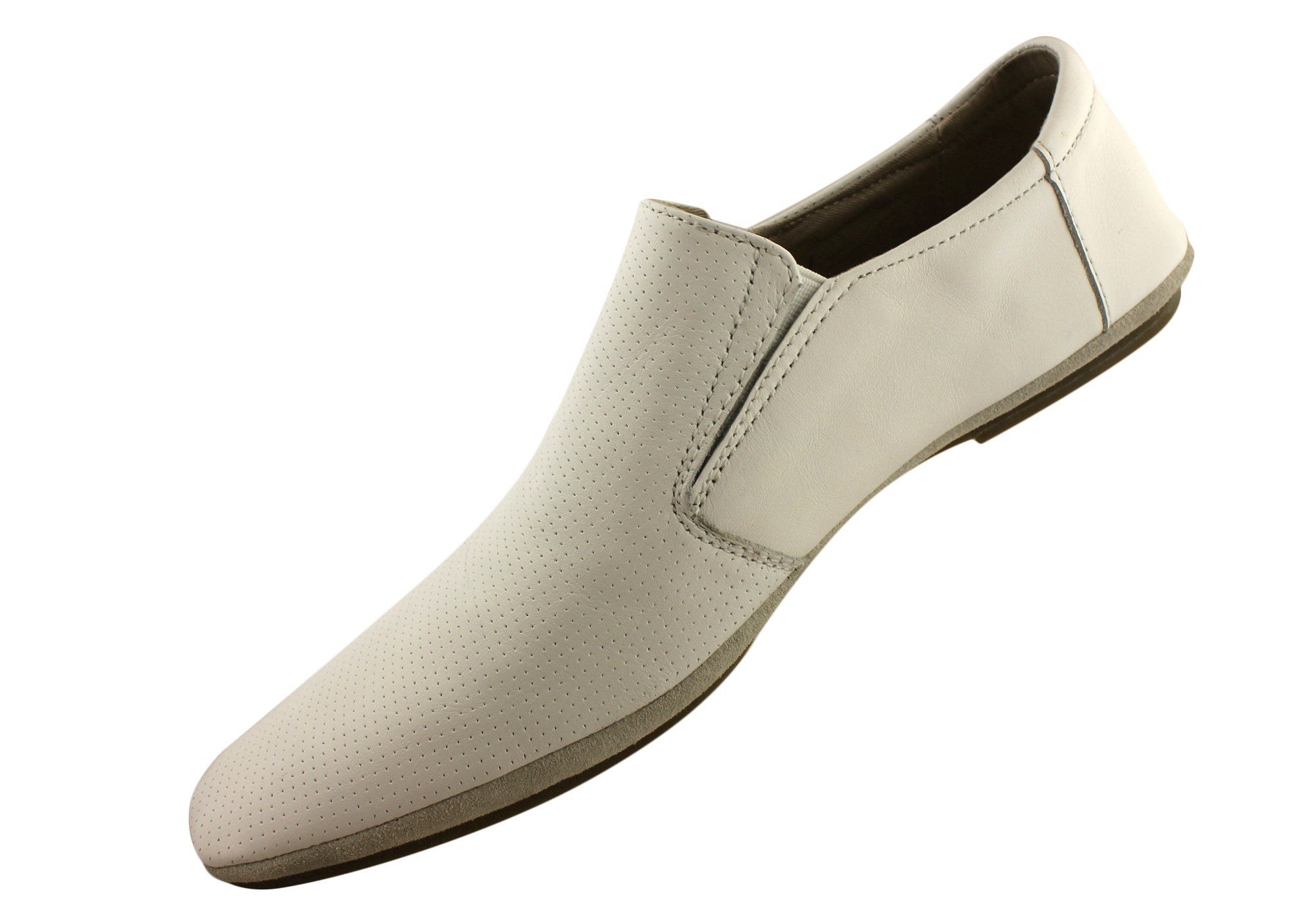 Slatter Dice Mens Leather Casual Slip On Shoes