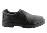 Slatters Seaton Mens Leather Slip On Comfortable Shoes