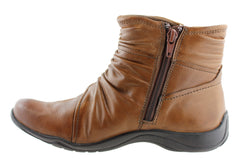 Planet Shoes Sammi Womens Leather Ankle Boots