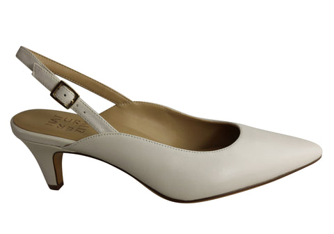 Naturalizer Baylee Womens Leather Comfortable Slingback Mid Heel Shoes