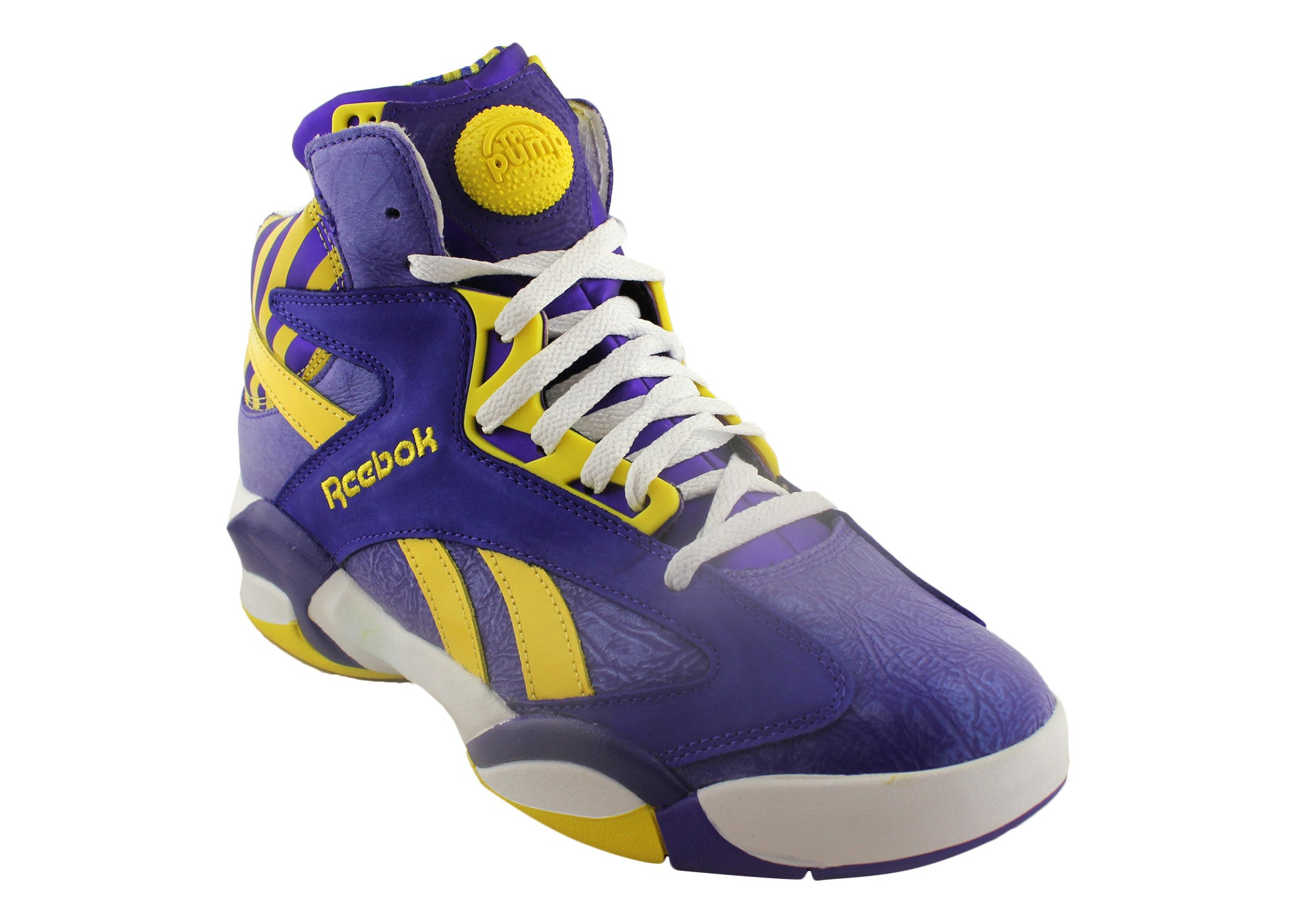 bright in luster clear and distinctive structural disablities Reebok Mens Pump Shaq Attack Basketball Boots