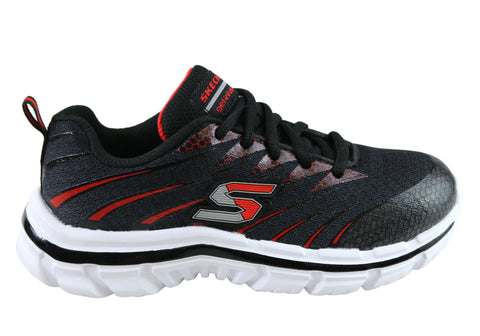 Skechers Nitrate Kids/Boys Lace Up Athletic Memory Foam Sneakers