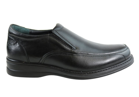 Scholl Orthaheel Belmont Mens Black Comfort Slip On Dress Shoes