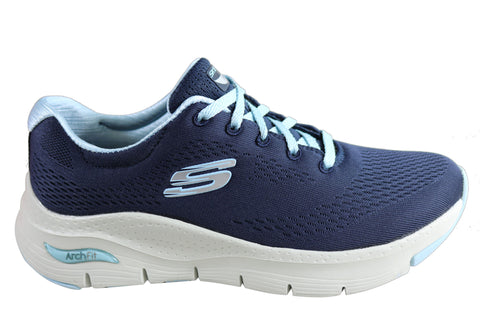 Skechers Womens Arch Fit Sunny Outlook Comfortable Lace Up Shoes