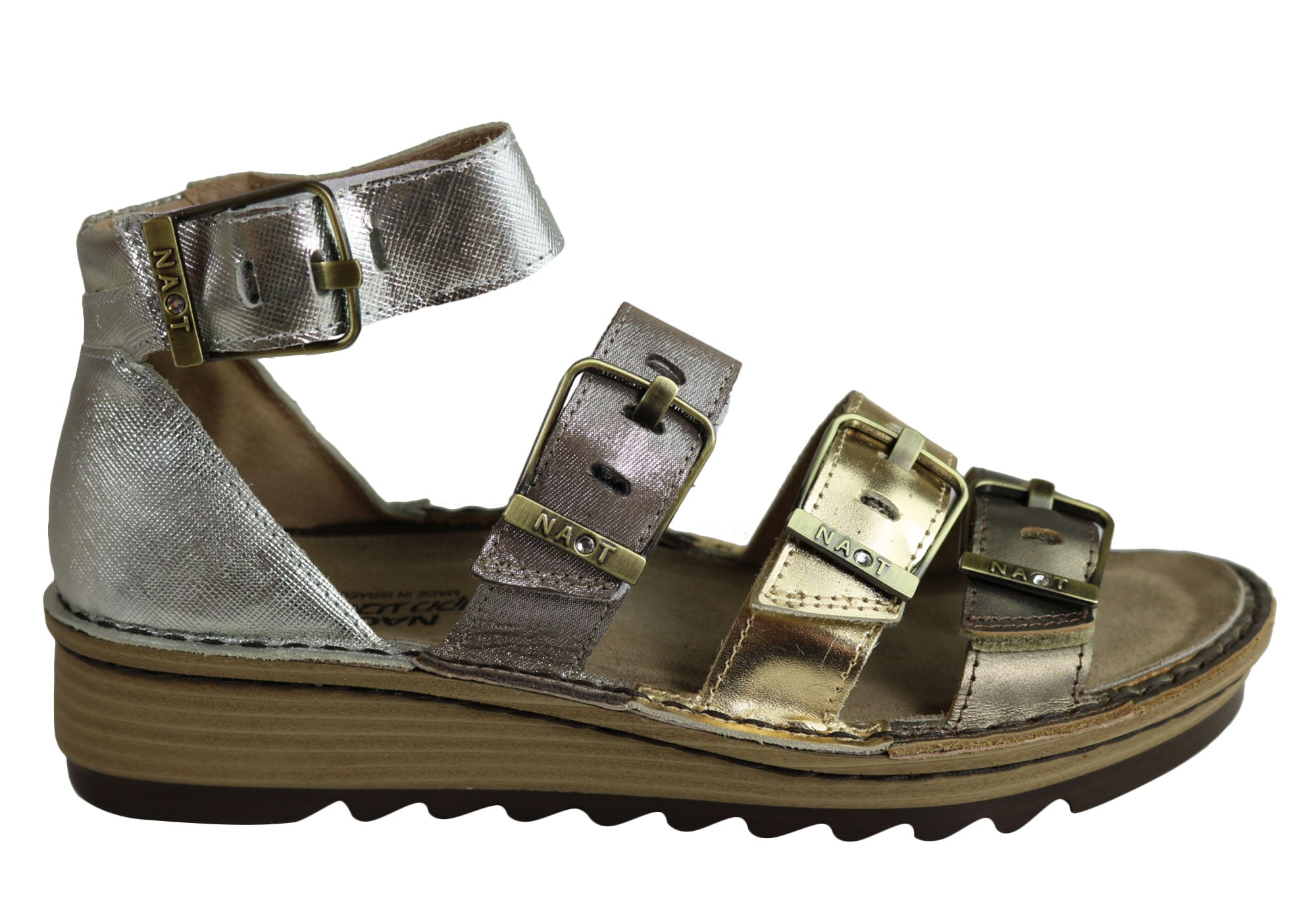 d1253ab4c48 Naot Begonia Womens Comfortable Cushioned Gladiator Inspired Sandals ...
