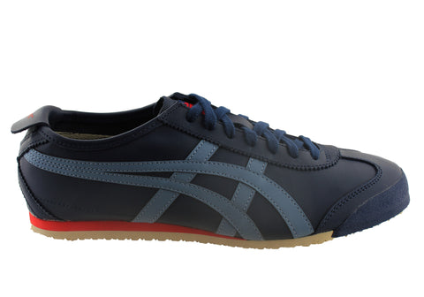 pretty nice ba813 52a8a Asics Onitsuka Tiger Mexico 66 Mens Leather Lace Up Casual Shoes