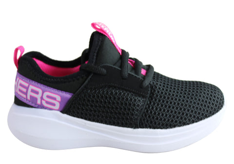 Skechers Kids Girls Go Run Fast Valor Comfortable Athletic Shoes