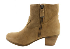 Hush Puppies Gemma Womens Leather Suede Ankle Boots