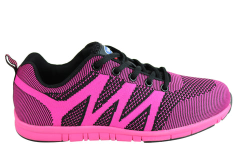 Scholl Orthaheel Fanfare Womens Comfortable Lace Up Active Shoes