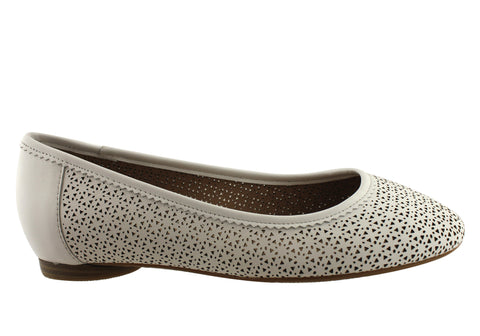 Hush Puppies Angela Womens Leather Comfort Flat Shoes