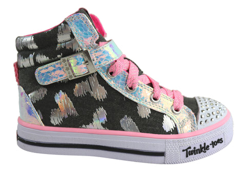 Skechers Girls S Lights Shuffles Rockstar Love Kids Shoes