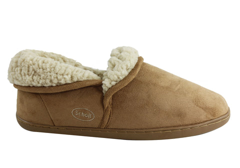 Scholl Orthaheel Snug Womens Warm Comfortable Indoor Slippers