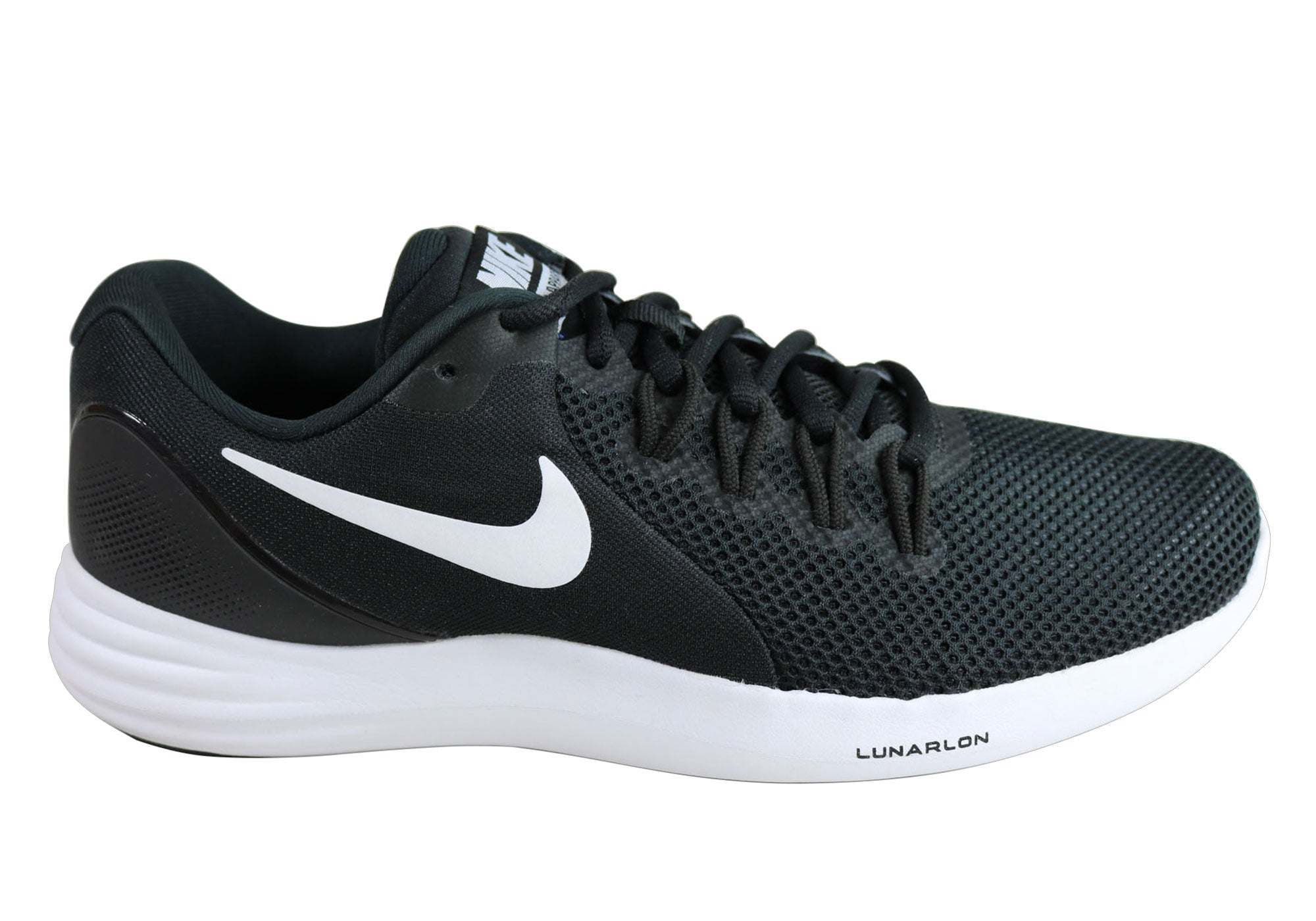 ac12a032b9e77 Home Nike Lunar Apparent Mens Cushioned Light Weight Running Shoes. Black   ...