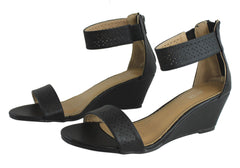 Lavish Olindaa Womens Wedges With Ankle Strap